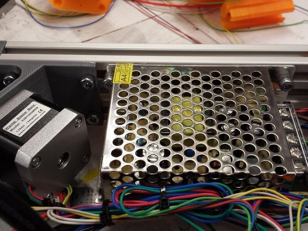Cherry Pi 3D打印机线轴架/布线环 3D模型  图53