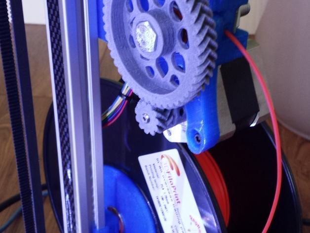 Cherry Pi 3D打印机线轴架/布线环 3D模型  图57