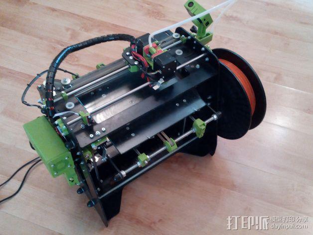 迷你双挤出机 3D模型  图3