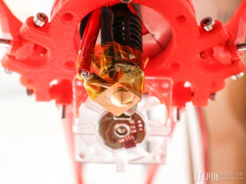 Rostock BI V1.0 3D打印机 3D模型  图2