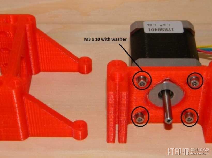 Rostock BI V1.0 3D打印机 3D模型  图12