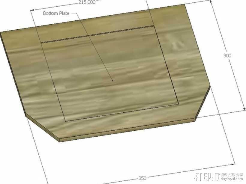 Rostock BI V1.0 3D打印机 3D模型  图15