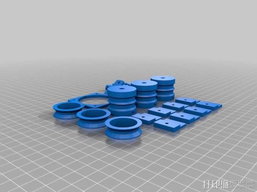 Rostock BI V1.0 3D打印机 3D模型  图22