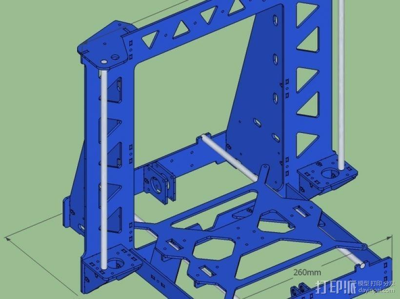 P3Steel - Prusa i3 3D打印机 3D模型  图5