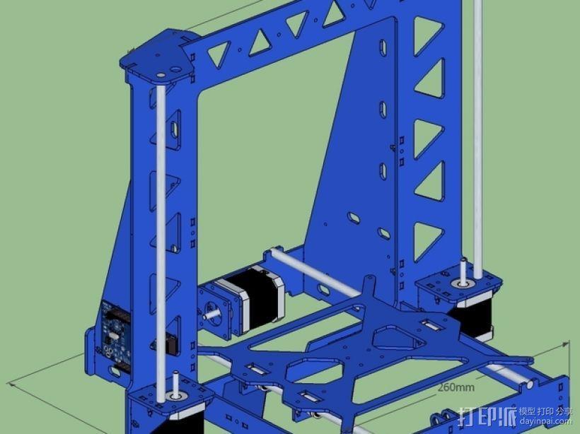 P3Steel - Prusa i3 3D打印机 3D模型  图4
