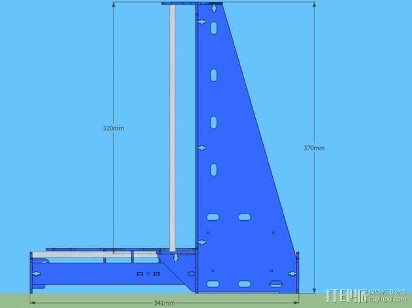 P3Steel - Prusa i3 3D打印机 3D模型  图10
