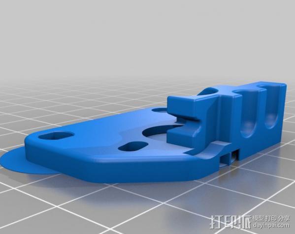 Replicator 2 3D打印机挤出机 3D模型  图3