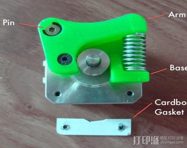 Replicator 2 3D打印机挤出机 3D模型  图7