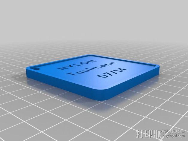 线材样品标签 3D模型  图4