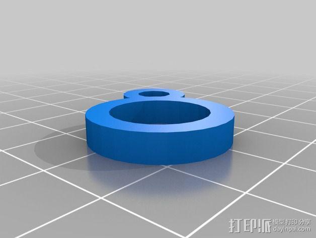 Printrbot 3D打印机线材扎带  3D模型  图6