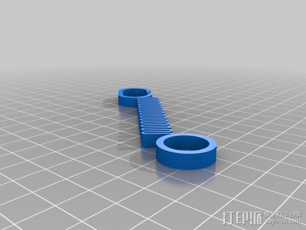 Printrbot 3D打印机线材扎带  3D模型  图8