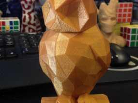 低聚猫头鹰 3D模型