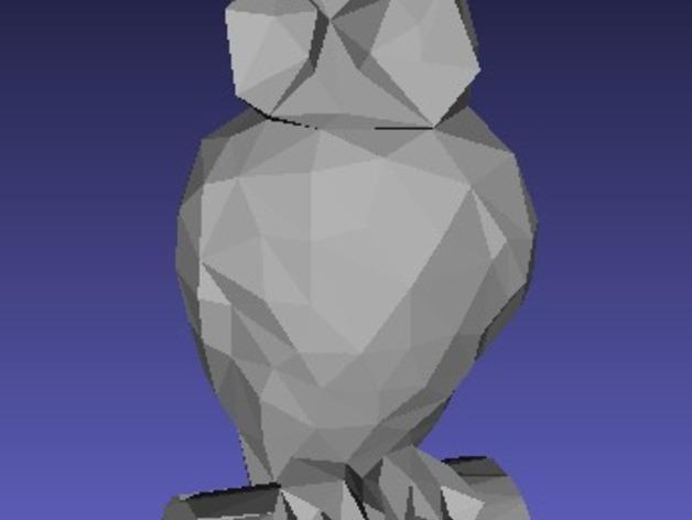 低聚猫头鹰 3D模型  图2