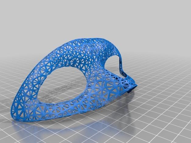 测试用面罩 3D模型  图1