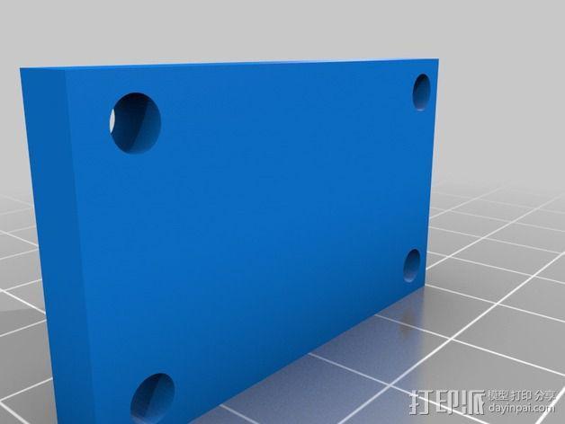 Y轴传送带拉伸装置 3D模型  图3