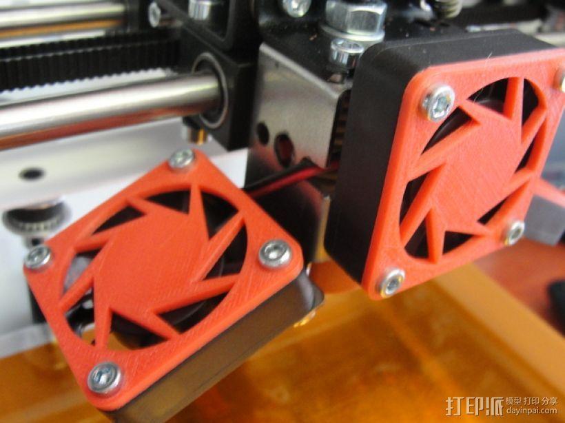 CraftBot 3D打印机风扇外壳 3D模型  图1