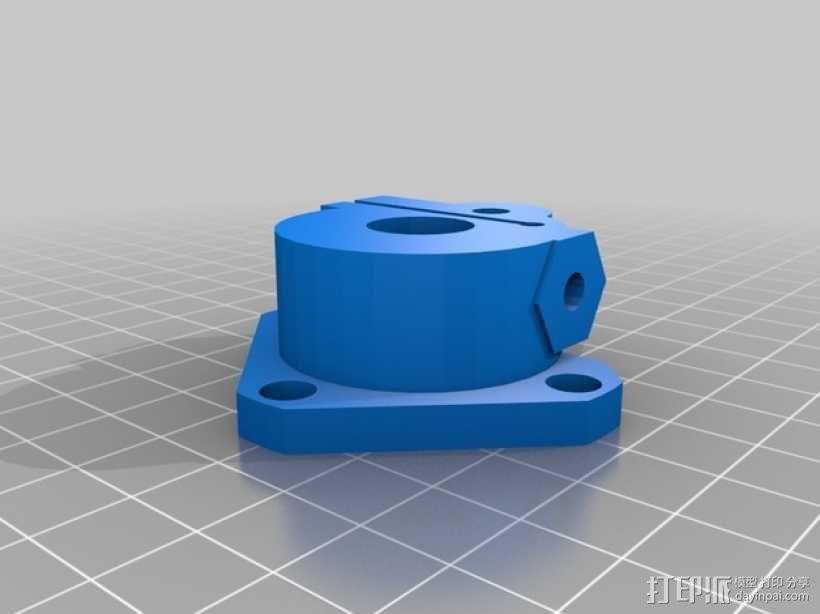 Kossel Mini 3D打印机NEMA17挤出机 3D模型  图5