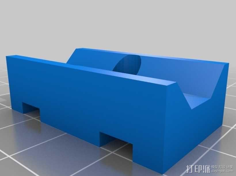 Kossel Mini 3D打印机NEMA17挤出机 3D模型  图4