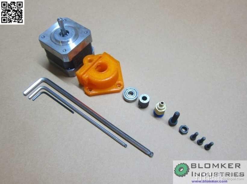 Kossel Mini 3D打印机NEMA17挤出机 3D模型  图6