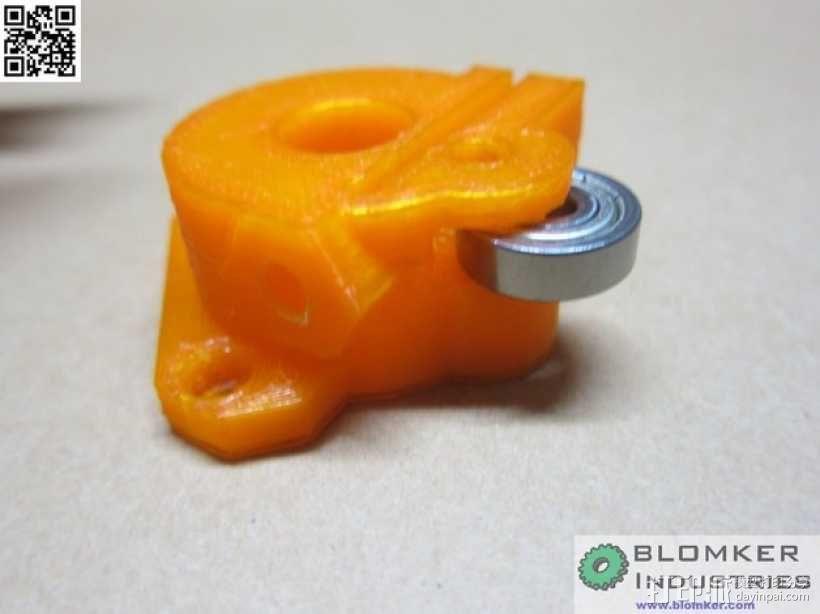Kossel Mini 3D打印机NEMA17挤出机 3D模型  图8