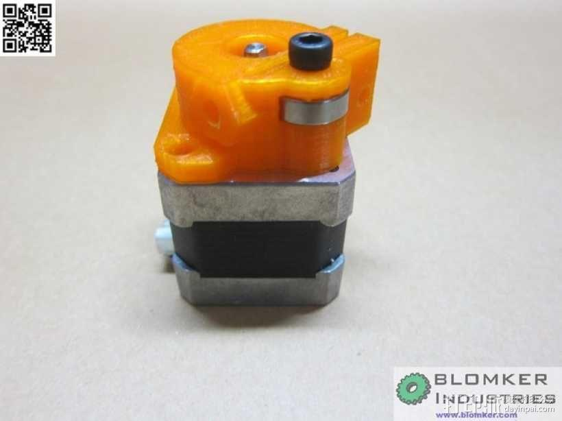 Kossel Mini 3D打印机NEMA17挤出机 3D模型  图11