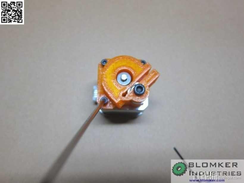 Kossel Mini 3D打印机NEMA17挤出机 3D模型  图12