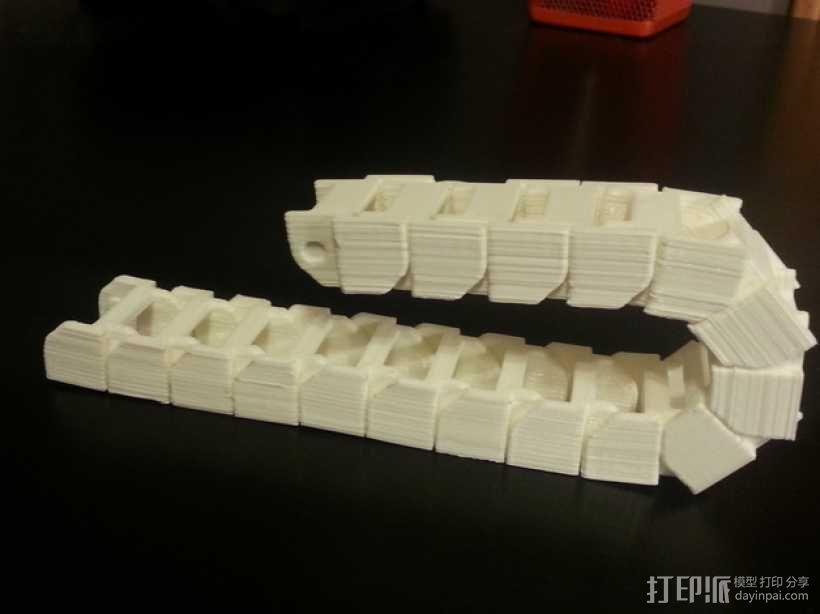 打印机电线保护链 3D模型  图1