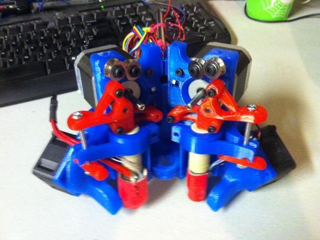 简易双挤出机 3D模型  图3