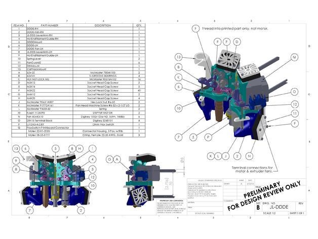 简易双挤出机 3D模型  图2