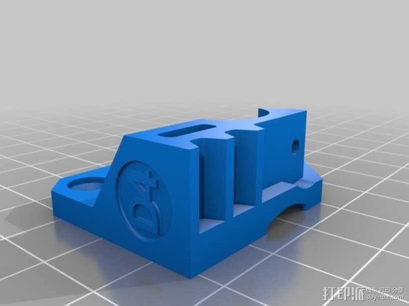 Mk8弹簧加压挤出机驱动装置 3D模型  图2