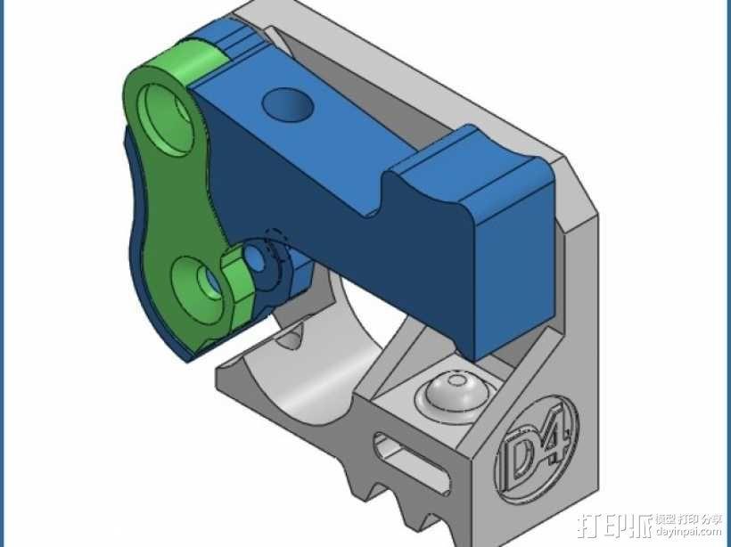 Mk8弹簧加压挤出机驱动装置 3D模型  图1