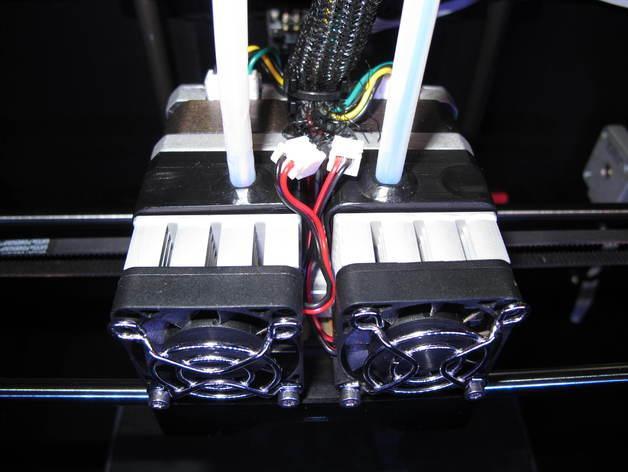 Replicator 2X 3D打印机挤出机驱动装置 3D模型  图5