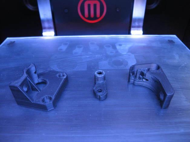 Replicator 2X 3D打印机挤出机驱动装置 3D模型  图2
