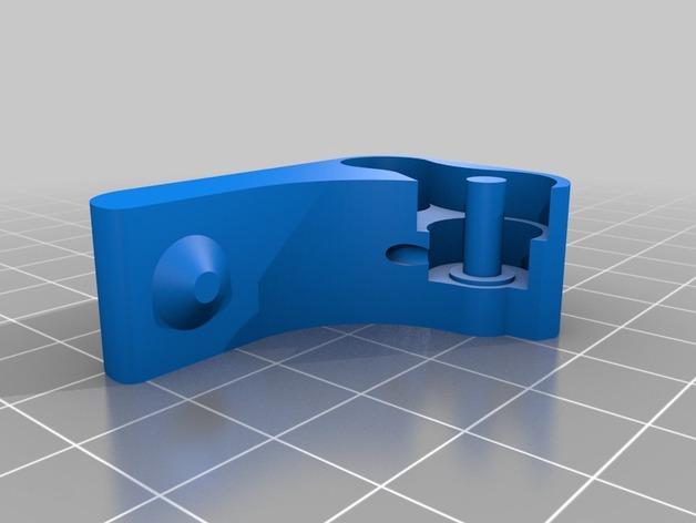Replicator 2X 3D打印机挤出机驱动装置 3D模型  图7