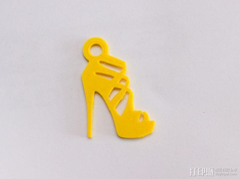 高跟鞋 吊坠 3D模型  图1