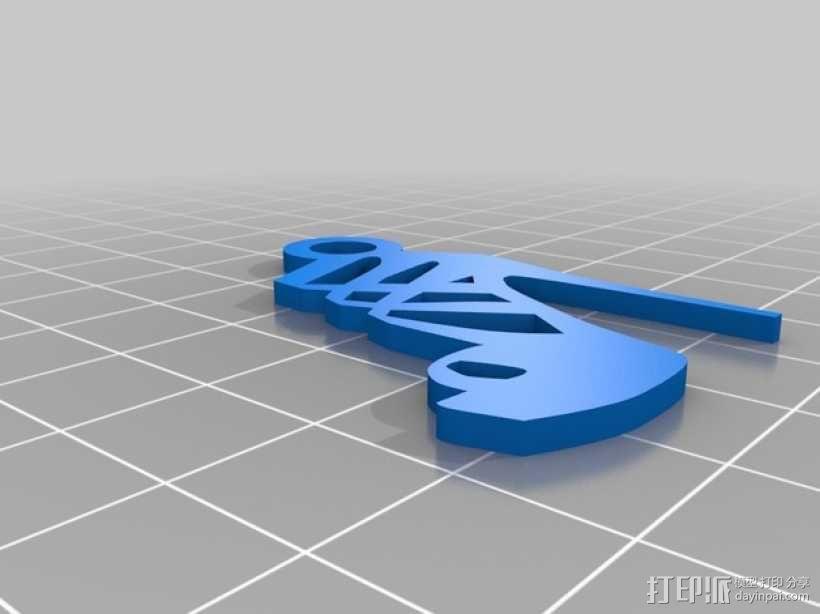 高跟鞋 吊坠 3D模型  图2