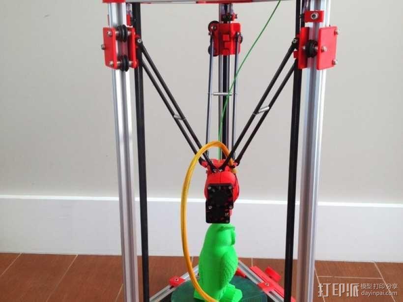 Kossel Mini 3D打印机 3D模型  图2
