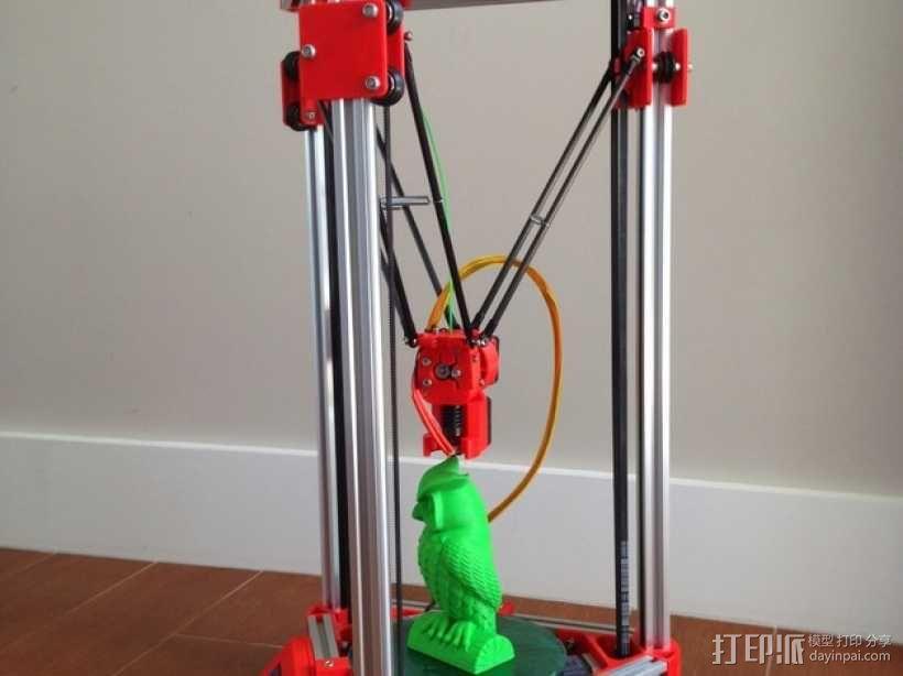 Kossel Mini 3D打印机 3D模型  图4