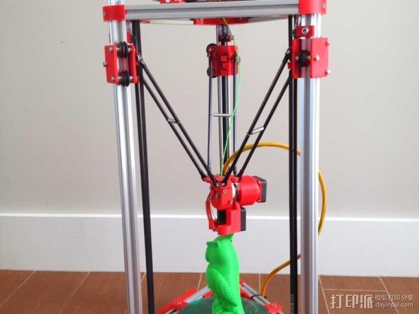 Kossel Mini 3D打印机 3D模型  图5