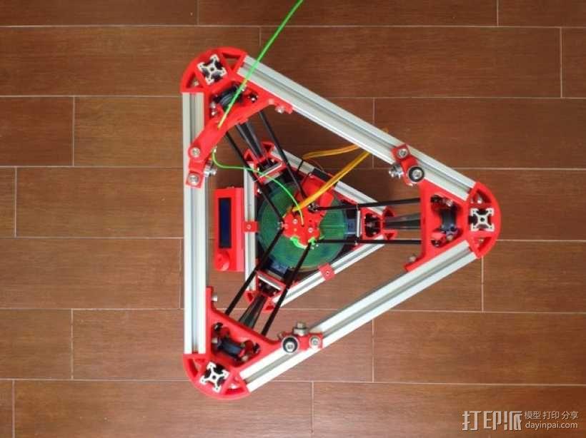 Kossel Mini 3D打印机 3D模型  图7