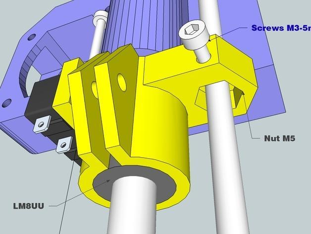 RepRap Prusa i3 3D打印机打印床校准装置 3D模型  图1