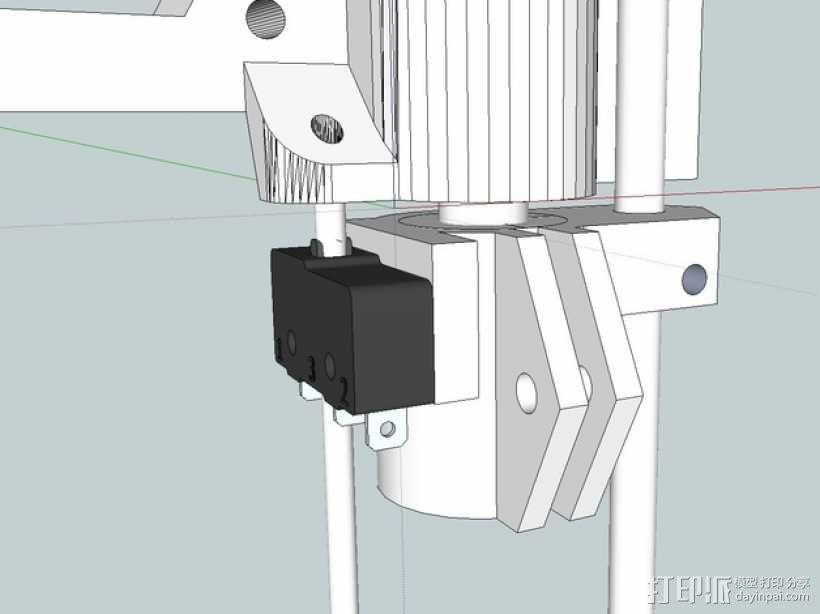 RepRap Prusa i3 3D打印机打印床校准装置 3D模型  图4