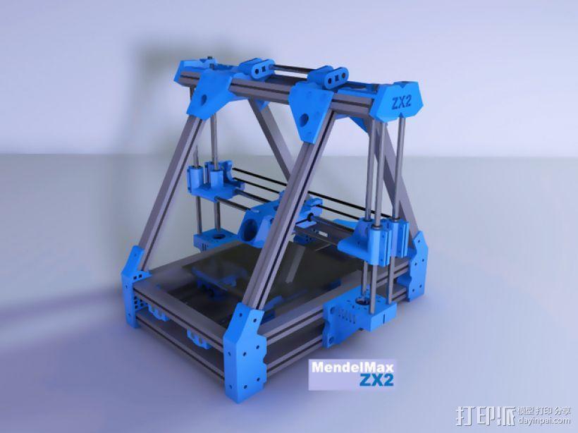 MendelMax 1.5 ZX2   Z轴打印部件 3D模型  图1