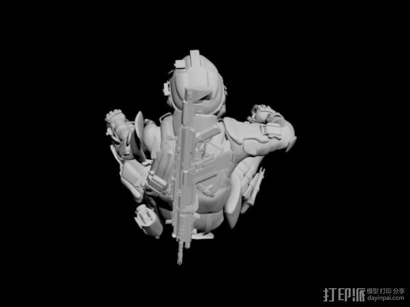 泰坦陨落飞行员 3D模型  图4