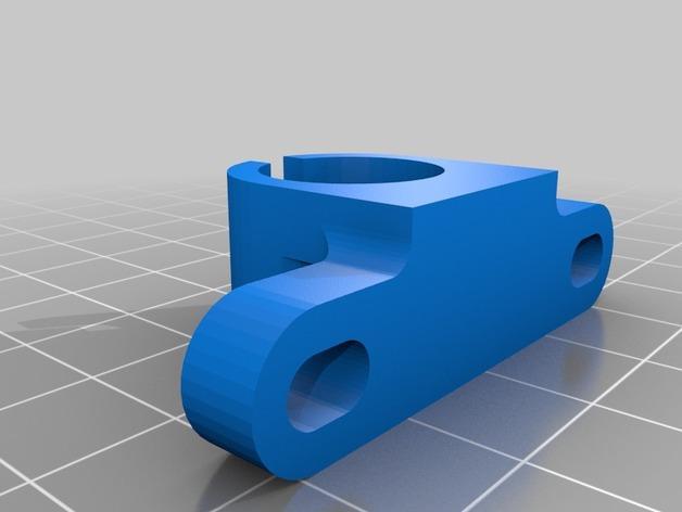 LM8UU线性轴承固定架 3D模型  图2