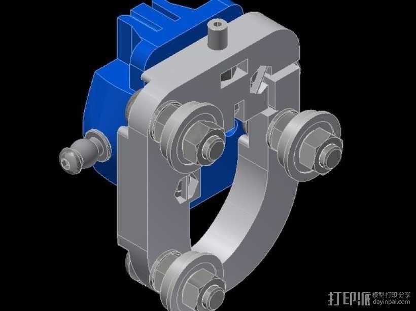 Kossel Mini 3D打印机滑动系统 3D模型  图11