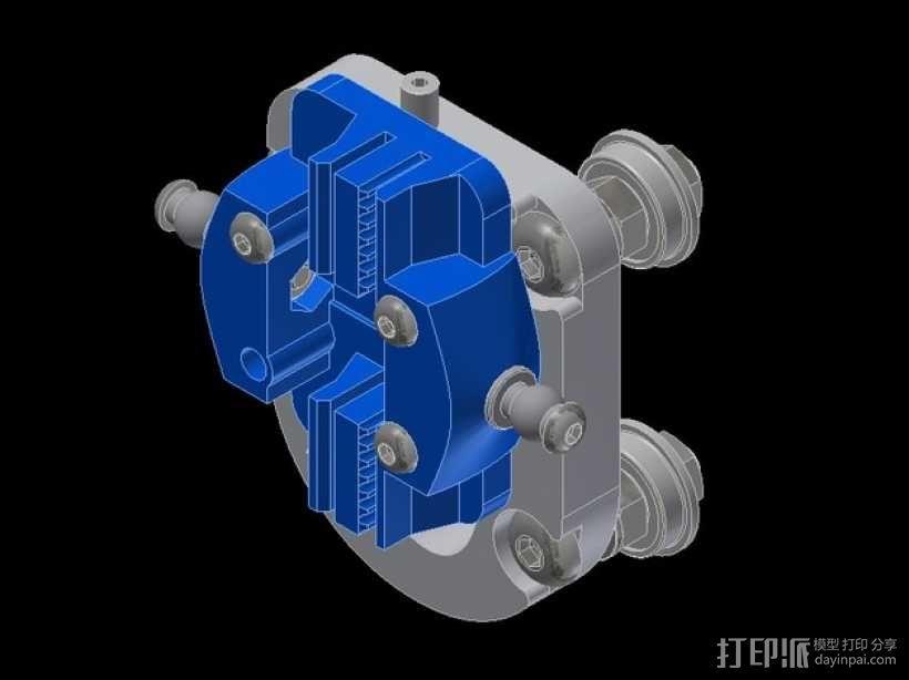 Kossel Mini 3D打印机滑动系统 3D模型  图10