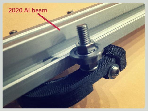 Kossel Mini 3D打印机滑动系统 3D模型  图8