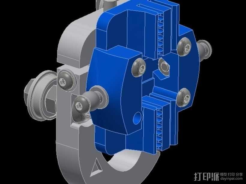 Kossel Mini 3D打印机滑动系统 3D模型  图12