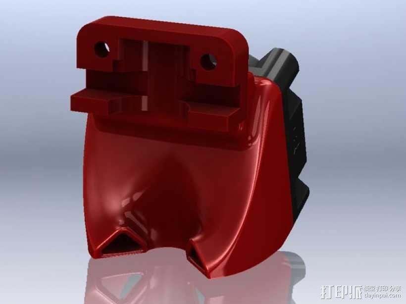 SD3挤压机风扇  3D模型  图1